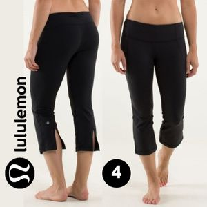 Lululemon Gather & Crow Crop Black Leggings